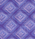 Modern Cotton Fabric -Stacking Squares Purple