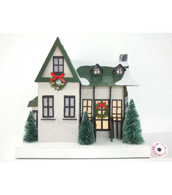 Maker's Holiday Christmas White House with Green Roof