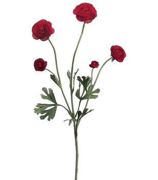 "Bloom Room 28"" Ranunculus Spray-Red"