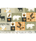 Harvest Cotton Fabric-Welcome Fall Patch