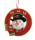 Maker\u0027s Holiday Christmas Whimsy Workshop Snowman Ornament-Fa La La