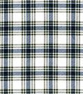 Snuggle Flannel Fabric 42\u0027\u0027-Hadley Navy & Green Plaid