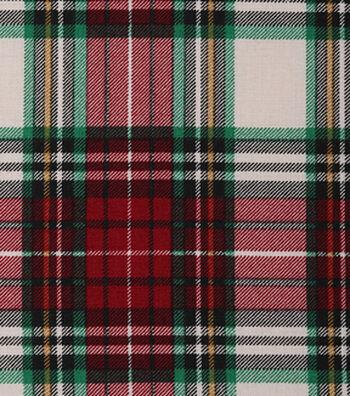 "Christmas Cotton Fabric 43""-Large Lodge Plaid"