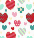 Snuggle Flannel Fabric -Goodheart Aqua