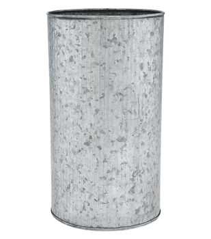 Ribbed Round Galvanized Container 10''
