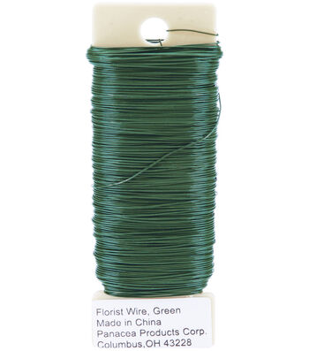 Panacea Products 26 Gauge Green Paddle Wire-1/4 lbs