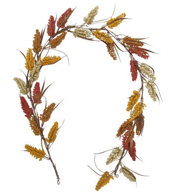 Blooming Autumn 66'' Heather Garland-Tri Color