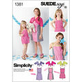 Simplicity Pattern 1381HH 3-4-5-6 -Child Girl Dresses