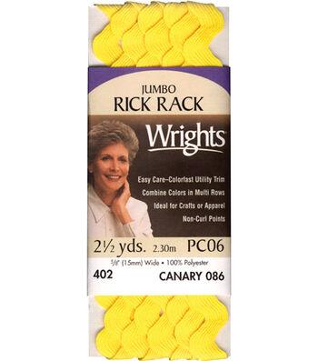 Wrights Jumbo Rick Rack-5/8''W x 2-1/2yds