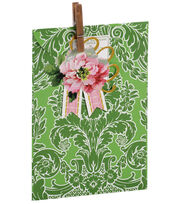 Anna Griffin Green Damask Treat Bag 4 Count, , hi-res