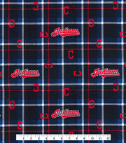 Cleveland Indians Flannel Fabric-Plaid, , hi-res