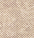 Quilter\u0027s Flannel Fabric -Dots Cream