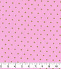 Keepsake Calico Cotton Fabric-Metallic Dots on Pink