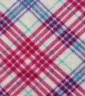 Anti-Pill Fleece Fabric 59\u0022-Aqau Plaid
