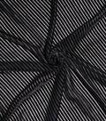 Casa Embellish Burnout Velour Fabric 52\u0022-Black Stripe
