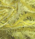 Glitterbug Brocade Fabric -Yellow Rose