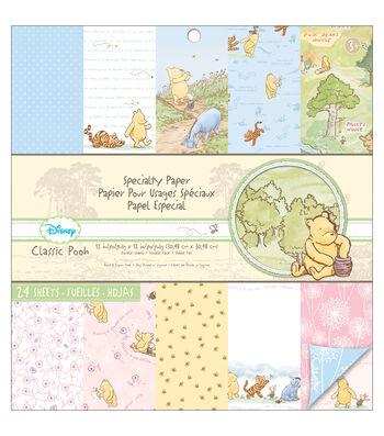 EK Success Disney Classic Pooh 12''x12'' Paper Pad
