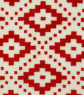 Sew Lush Fabric -Red Aztec Geo