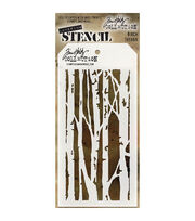 Stampers Anonymous Tim Holtz 4.13''x8.5'' Layered Stencil-Birch, , hi-res