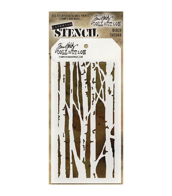 Stampers Anonymous Tim Holtz 4.13''x8.5'' Layered Stencil-Birch