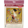 Riolis Lady With A Fan G. Klimt\u0027s Painting Counted Cross Stitch Kit