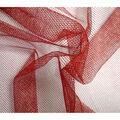 Metallic Nettings Fabric-Red