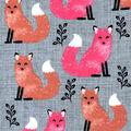 Snuggle Flannel Fabric -Ombre Tonal Fox