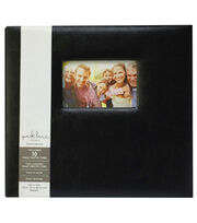 Park Lane 12''x12'' Leather Scrapbook Album-Black, , hi-res