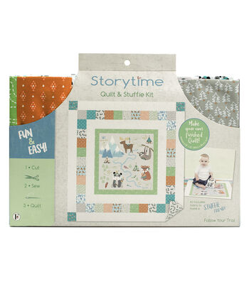 Storytime Quilt & Stuffie Kit-Follow your Trail