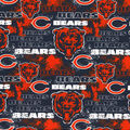 Chicago Bears Cotton Fabric-Distressed