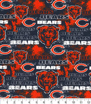 Chicago Bears Cotton Fabric-Distressed, , hi-res
