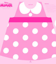 Disney Minnie Mouse Cotton Girl's Apron Panel Fabric, , hi-res