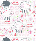Nursery Cotton Fabric-Little Lambs