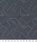 Robert Allen @ Home Upholstery Swatch 59\u0022-Folded Maze Indigo