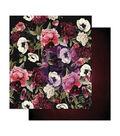 Prima Marketing Midnight Garden 12\u0027\u0027x12\u0027\u0027 Foiled Double-sided Cardstock