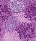 Asian Inspired Cotton Fabric 43\u0027\u0027-Tonal Purple Floral
