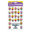 Cupcakes The Bake Shop superShapes Stickers-Large 200 Per Pack, 12 Packs