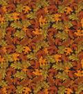 Autumn Inspirations Cotton Fabric 43\u0022-Tossed Leaves