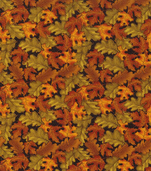 Autumn Inspirations Cotton Fabric -Tossed Leaves