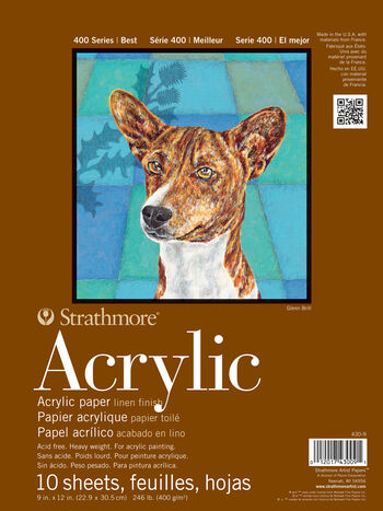 Strathmore 400 Series 10 Sheets 9''x12'' Acrylic Pad