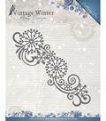 Find It Trading Amy Design Vintage Winter Die-Snowflake Swirl Border