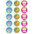 Happy Birthday-Vanilla Stinky Stickers 12 Packs