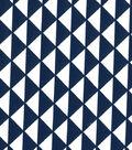 Quilter\u0027s Showcase Cotton Fabric-Triangles Blue/White