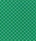 Christmas Cotton Fabric 43\u0022-Green Diamond Stripe