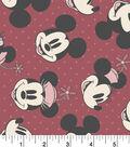 Disney Mickey & Minnie Flannel Fabric 42\u0022-Head Toss