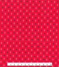 Tutti Fruitti Ahoy Embellished Fabric -Anchors & Crabs on Pink
