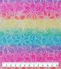 Anti-Pill Plush Fleece Fabric-Rainbow Tie Dye Floral