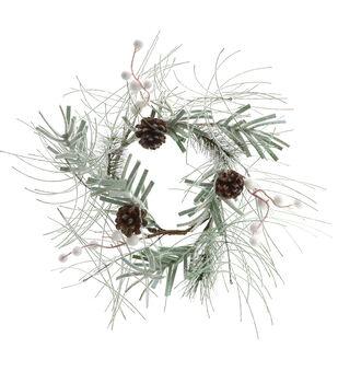Handmade Holiday Christmas Pine, Pinecone & Berry Mini Wreath