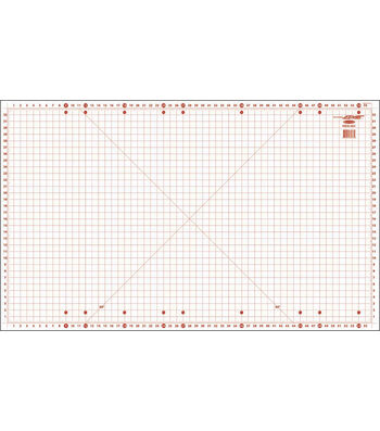 Sullivans 36''x59'' Gridded Cutting Mat for Home Hobby Table