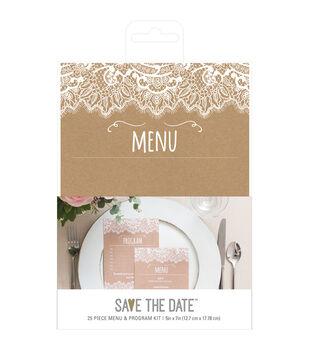 Wedding stationery invitations joann american crafts rustic menu program kit solutioingenieria Image collections